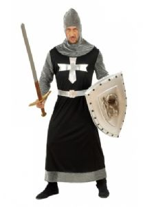 Dark Crusdader Medieval fancy dress costume